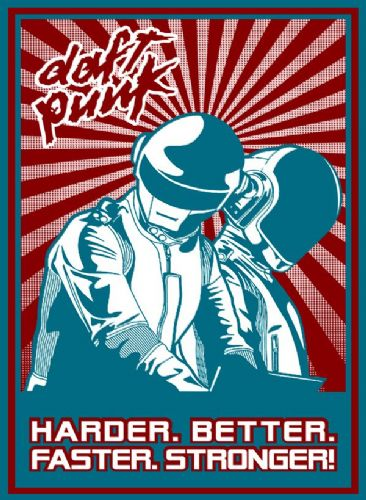 DAFT PUNK - Better - pop art canvas print - self adhesive poster - photo print